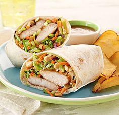 Thai Peanut Chicken Wraps... Happy Hour Appetizers 44 | Hampton Roads Happy Hour - 1, 2.5