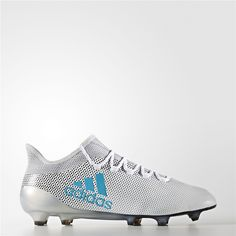 Adidas X 17.1 Firm Ground Cleats (Running White Ftw   Energy Blue   Clear  Grey b4513d0bed5d8