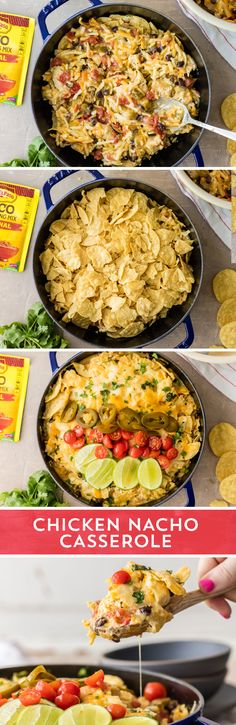 Are nachos for dinner? They are now with this Cheesy Chicken Nacho Casserole from @beckygallhardin! This casserole takes everything you love about nachos - the crunchy chips, melted cheese, and spicy toppings, and turns it into a full on meal! This casserole is super easy to make, and is ready to eat in 40 minutes!