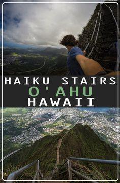 Guide: Haiku Stairs – Stairway to Heaven, Hawaii Us Travel Destinations, Travel And Tourism, Stairway To Heaven Hawaii, Horse Carriage, Haiku, Outdoor Camping, Stairways, Travel Inspiration, Blog