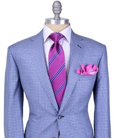 Brioni | Blue Check Sportcoat | Apparel | Men's