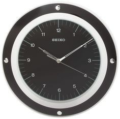 Seiko Wall Quiet Sweep Second Hand Clock Curved Glass Crystal BlackDial -QXA314KL *** Check out the image by visiting the link. (This is an affiliate link and I receive a commission for the sales)