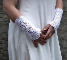 Wild Daisy  crocheted open work lacy bridal by hypericumfragile
