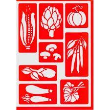 D corer a l 39 aide de stencil on pinterest silhouette - Pochoir cuisine a imprimer ...