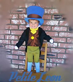 Jiminy Cricket Costume from Pinocchio with Wellington Style Top Hat and green breeches and tuxedo coat on Etsy, $299.99