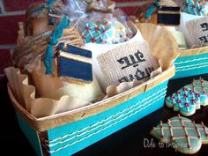 Teal & Gold Berry Baskets {Eid Gift}
