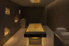 Lympha - The marble spa-table for traditional Hammam style used during the performance of humid treatments