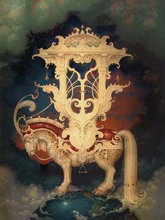 """Year of the Horse"" ~ Daniel Merriam ~ Watercolorist Extraordinaire ~ Miks' Pics ""Daniel Merriam ll"" board @ http://www.pinterest.com/msmgish/daniel-merriam-ll/"