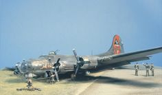 Classic Shep Paine diorama; B-17 crash.