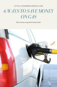 6 Ways to Save Money on Gas. Here are some tips to save money on gas. These ideas range from finding cheaper gas prices to ways to increase your gas mileage. How To Save Gas, Ways To Save Money, Money Saving Meals, Money Saving Challenge, Cheap Gas Prices, Money Talks, Frugal Living Tips, Financial Tips, Money Matters
