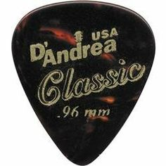 D'Andrea 351 Vintage Celluloid Guitar Picks One Dozen Shell 1.21MM by D'Andrea. $3.95. This simple wedge of plastic is the very tool that transfers the energy and inspiration from fingers to strings. The tonal effect of a musical piece depends as much on the selection of pick as it does on the choice of strings, amps, effects, or guitar. Many players keep a variety of types and gauges available for varied sounds and playing styles. Guitarists experiment constantly ...