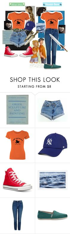 """""""Wise Girl & Seaweed Brain"""" by sleepyfangirl ❤ liked on Polyvore featuring '47 Brand, Converse, Pottery Barn, Topshop and TOMS"""