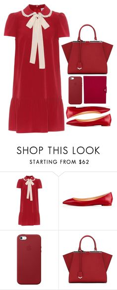 """Untitled #317"" by lvlyuniqorn ❤ liked on Polyvore featuring RED Valentino, Christian Louboutin, Apple, Fendi and Hermès"