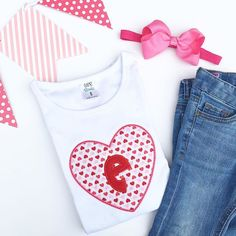 Mini Pink and Red Hearts Shirt | Gentry's Closet | $23 | Click link to shop: http://gentryscloset.com/collections/valentines-day/products/copy-of-sweetheart-valentines-monogrammed-ruffle-shirt-with-heart-valentine-shirt-or-infant-bodysuit-for-little-girl-pink-and-red-hearts