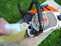 Using Vegetable Oil to Replace CHainsaw Oil: When a chain saw is used, virtually all the lubricant ends up in the environment.