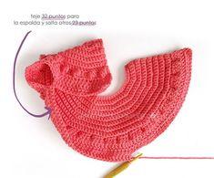 Chaqueta de Crochet Burbujitas para niña [ Tutorial y Patrón GRATIS ] Winter Baby Clothes, Baby Winter, Crotchet Patterns, Baby Knitting Patterns, Crochet Girls, Crochet Baby, Gilet Crochet, Couture, Handmade