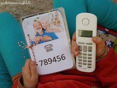Ein Telefonbuch für die Kleinen...(DIY)