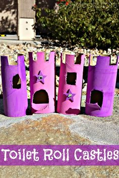 Learn how to make a castle toilet paper roll craft for kids.