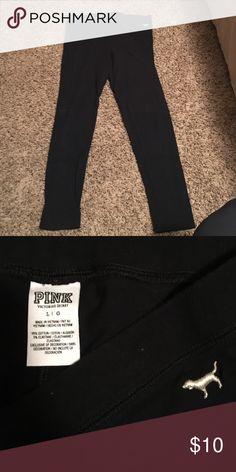 Black PINK leggings Black PINK leggings PINK Victoria's Secret Pants Leggings