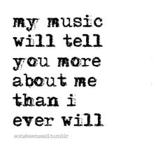 A deep music quote t