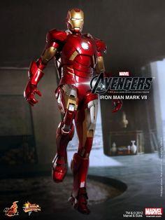 THE AVENGERS - Hot Toys IRON MAN Mark VII Action Figure!