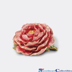 Cabbage Rose Trinket Box