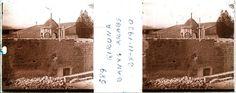 1930 girona Els Banys Àrabs de Girona durant la reforma feta per l'arquitecte Rafael Masó. Vista general de la façana i la cúpula de l'edifici durant les obres de reforma