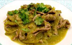 Receta de bisteces en salsa verde