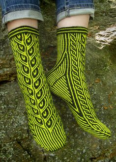 Ravelry: Far Into the Forest pattern by Kirsten Hall sock stranded colorwork