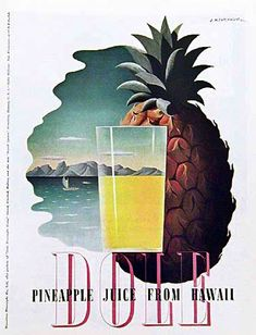 A.M. Cassandre for Dole Pineapple 1936