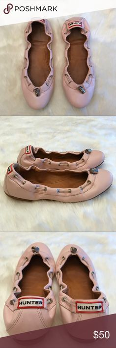 Hunter Boots Ballerina Flats Light pink ballet flats in good condition with minimal scuffs.  Please examine all photos. Hunter Boots Shoes Flats & Loafers