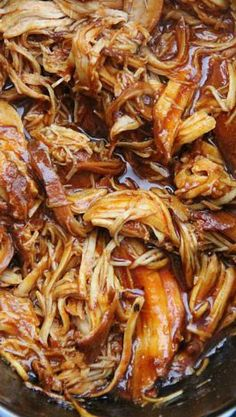 The Best Crockpot BBQ Chicken...