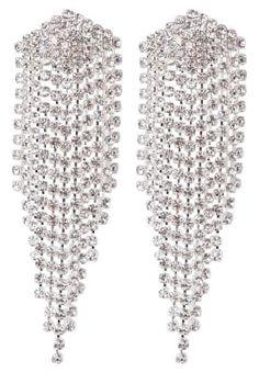 Oorbellen - silver-coloured/crystal