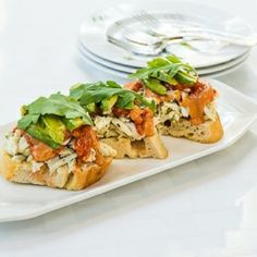 Earth Crab Toast - Fresh lump crab meat with three homemade sauces ...