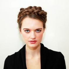 New York Fashion Week: Matt Fugate for CHI Creates Milkmaid Braids at Whit by Whitney Pozgay | A Little Alytude
