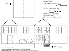 Templates for Putz Houses - Bing Images Putz Houses, Christmas Village Houses, Box Houses, Paper Houses, Christmas Villages, Cardboard Houses, Tiny Houses, Cardboard Paper, Diy Paper