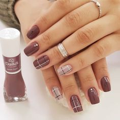 Simple Nail Polish Designs Pictures cool nail art designs for 2019 nagelideen schicke ngel Simple Nail Polish Designs. Here is Simple Nail Polish Designs Pictures for you. Simple Nail Polish Designs these chic nail art designs show how hassl. Classy Nails, Stylish Nails, Trendy Nails, Plaid Nails, Plaid Nail Art, Diy Nail Designs, Toenail Designs Fall, Designs For Nails, Winter Nail Designs