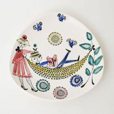 Man en vrouw. Bord. Ontwerp: Inger Waage. Stavanger, Ceramic Artists, Modernism, Man, Norway, Scandinavian, Modern Design, Designers, Mid Century