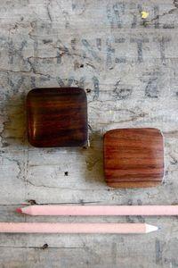 small rosewood tape measure