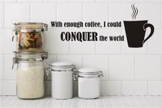 With enough coffee, I could CONQUER the world