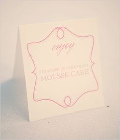 our free dessert table labels live in action!