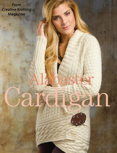 Alabaster Cardigan from the Autumn 2014 issue of Creative Knitting Magazine. Order a digital copy here: http://www.anniescatalog.com/detail.html?code=AM11211