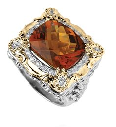 14k Gold & Sterling Silver ring with 0.24 diamond #VahanPinterest