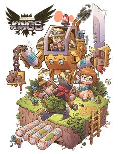 MERCENARY KINGS ©Tribute Games 2014 on Behance