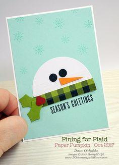 October Paper Pumpkin: Pining For Plaid & alternate ideas (think snowman!)