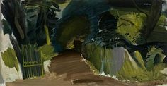 Pure Painters: Ivon Hitchens meets Pierre Soulages – the republic of less Green Landscape, Abstract Landscape, Landscape Paintings, Frank Auerbach, Dark Pictures, Contemporary Landscape, Cool Artwork, Art World, Painting Inspiration