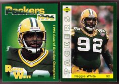 GREEN BAY PACKERS LOT OF 2 DIFFERENT REGGIE WHITE FREEDOM POLICE CARDS FREE SHIP #GreenBayPackers
