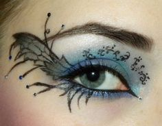 Creative Looks / Dark Fairy Eyes on We Heart It Maquillaje Halloween, Halloween Makeup, Halloween Eyes, Fairy Eye Makeup, Makeup Art, Beauty Makeup, Makeup Ideas, Blue Makeup, Makeup Tutorials