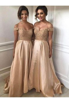2019 Gold Bridesmaid Dresses Off The Shoulder Beads Crystal Sweep . 2019 Gold Off The Shoulder Beads Crystal Sweep gold bridesmaid dresses - Bridesmaid Dresses Off Shoulder Bridesmaid Dress, Bridesmaid Dresses 2017, Champagne Bridesmaid Dresses, Gold Bridesmaids, Long Wedding Dresses, Champagne Dress, Bridesmaid Ideas, Maid Of Honour Dresses, Maid Of Honor Dress Long