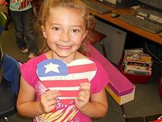 Pledge Hearts activity for a memorable US holiday (Veterans Day, 9/11, Freedom Week, Memorial Day, etc)
